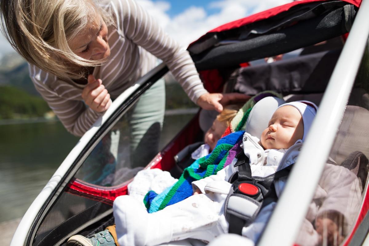 Baby im Fahrradangänger