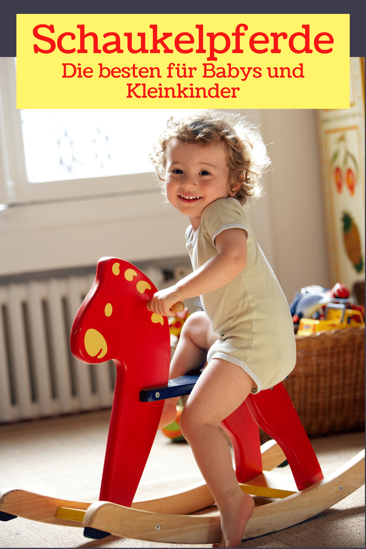 Pinterest-Bild: Kind auf Schaukelpferd