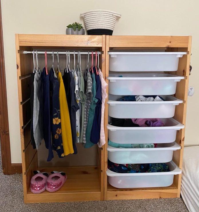 Montessori Kleiderschrank auf Basis Ikea Trofast