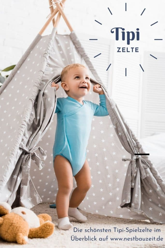 Pinterest-Bild zum Artikel Tipi-Zelte für Kinder