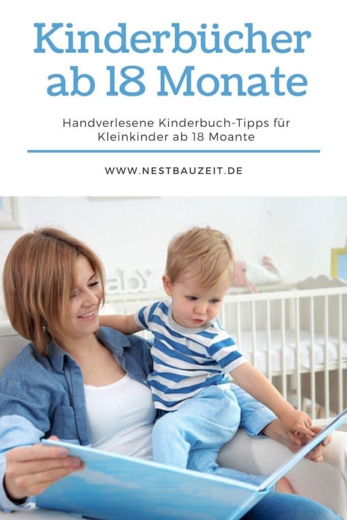 Pinterest-Bild: Kinderbücher ab 18 Monate