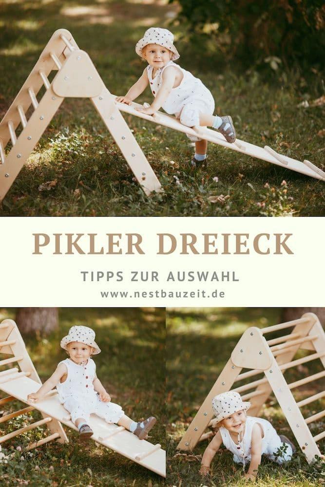 Kleinkind spielt mit Pikler Dreeick.