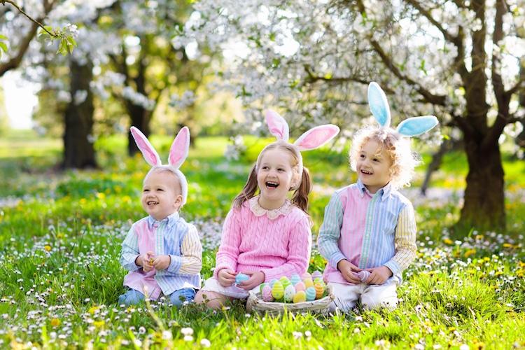 Kinder an Ostern