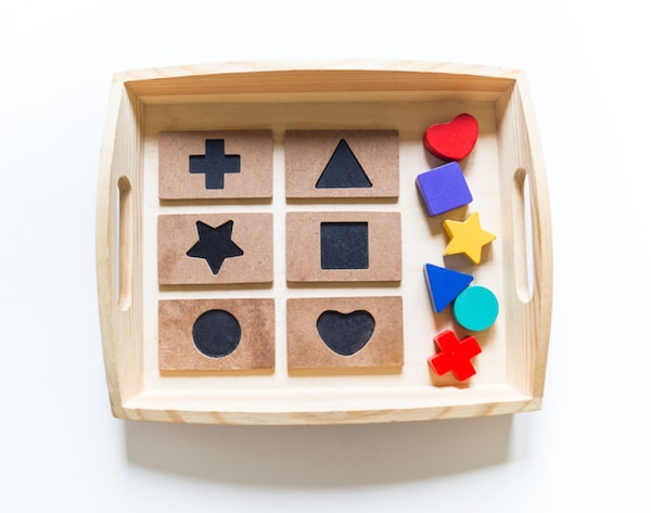 Puzzle auf einem Tablett