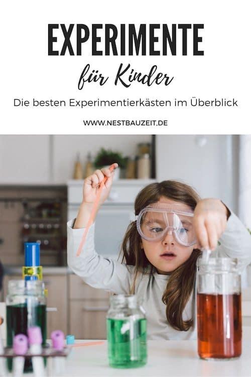 Pinterest-Bild: Experimente für Kinder