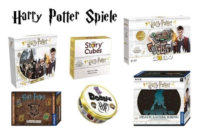 Kollage verschiedener Harry Potter Spiele